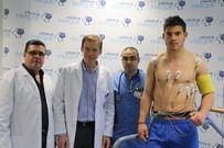 Reconocimiento médico de Kike López en la Clínica Parque /Foto: Fernando Palarea - InstintoBlanquiazul.Es
