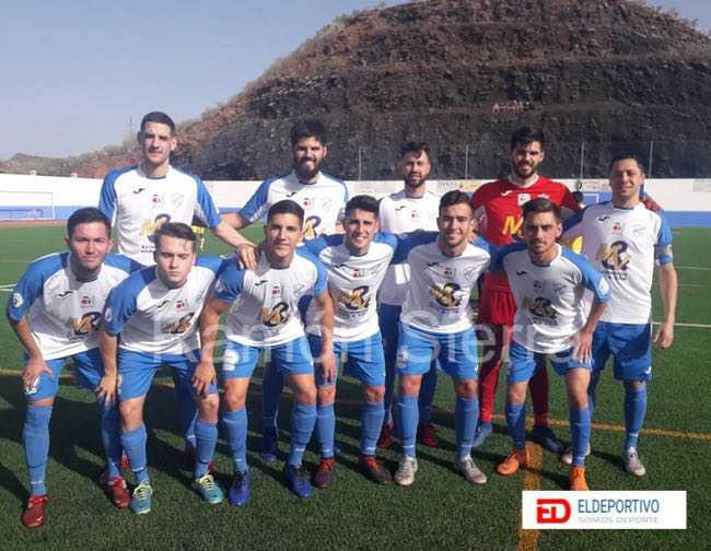 Once inicial del CD Buzanada ante la U.D. Las Palmas C.