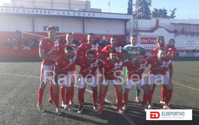Once inicial de Las Zocas, en la jornada 24 de Tercera División, grupo Canario.