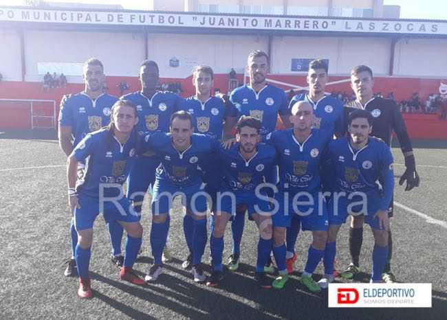 Once inicial de El Marino, en su encuentro frente a las Zocas, jornada 24, Tercera División Grupo Canario.