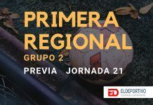 Jornada 21 de la categoría Primera Regional Grupo2.
