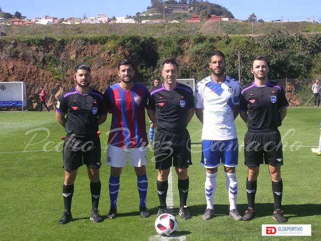 Trío arbitral del Tenerife B vs Tenisca, jornada 24.