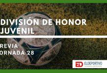 Jornada 28 – Previa División de Honor Juvenil.