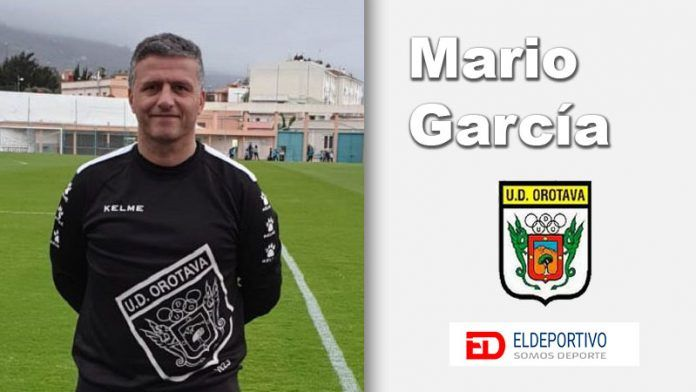 Foto de Mario García, atual entrenador del U.D. Orotava.
