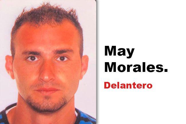 """May Morales, de posición """"delantero""""."""