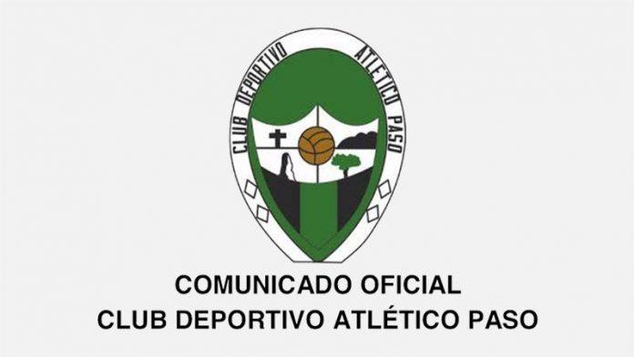 Comunicado oficial del Atlético Paso.