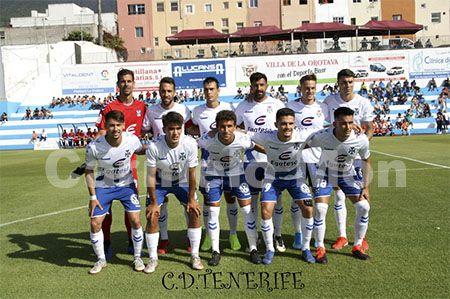 Once inicial del CD Tenerife, Trofeo Teide 2019.