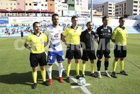 Trío arbitral y capitanes, Trofeo Teide 2019.