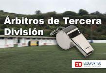 Colegiados para la primera jornada de Tercera División.