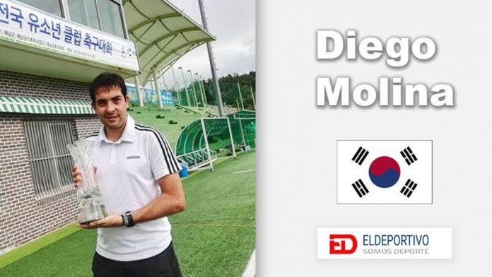 Diego Molina, un canario entrenando en Corea.