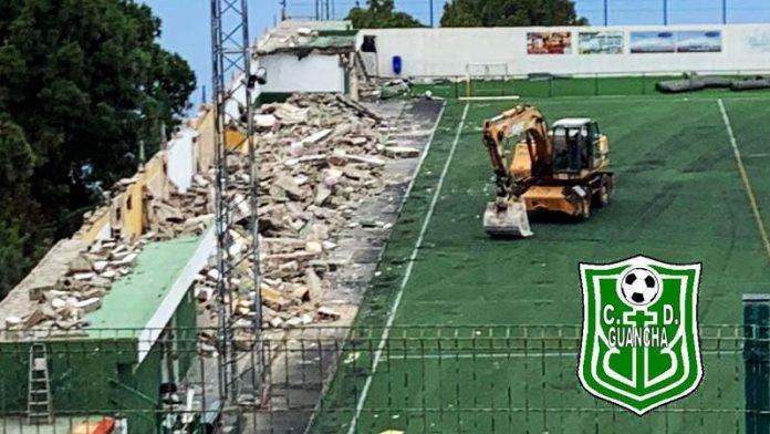 Comienzan las obras en el estadio municipal de Montefrío.