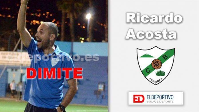 Ricardo Acosta no continuará como entrenador del C.D. Buenavista.