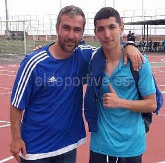 Gabriel con Ayoze Díaz.