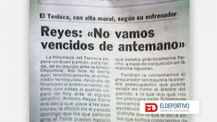 Triunfa la SD Tenisca a la UD Las Palmas en la Copa del Rey.