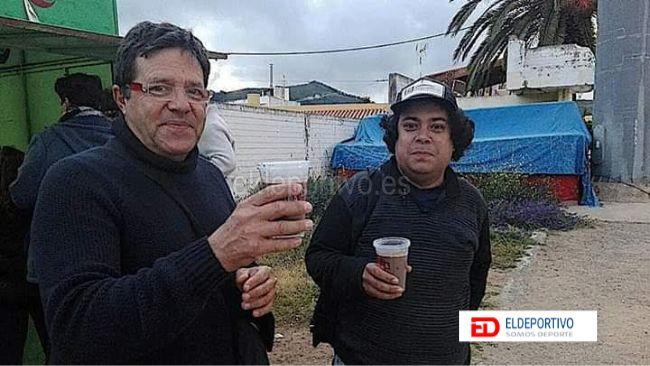 Fran Estévez con Pepe González.