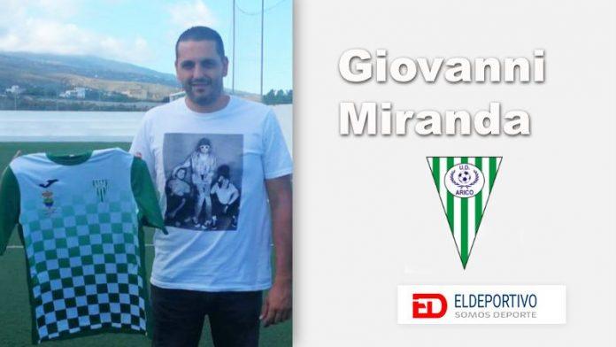 Giovanni Miranda dirigirá a la UD Arico en su vuelta a Primera Regional.