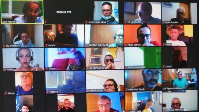 Imagen de la asamblea telemática de la FTF.