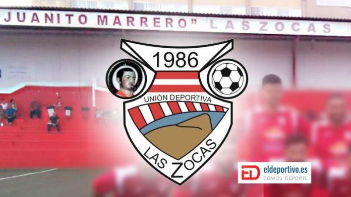 Imagen del Juanito Marrero, y el escudo de Las Zocas.