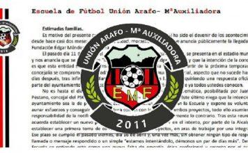 Comunicado EMF Unión Arafo - María Auxiliadora